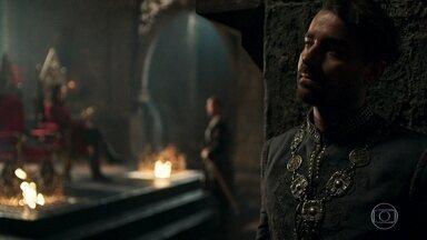 Virgílio ouve o plano de Rodolfo para capturar Afonso - Afonso diz a Amália que Otávio marcou a reunião com os Conselheiros da Cália