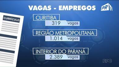 Mais de cinco mil vagas de emprego estão abertas em todo o Paraná - A geração de empregos no primeiro trimestre deste ano foi a melhor para o período desde 2014.