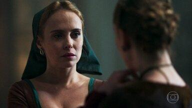 Lucíola provoca Diana - A criada fala com ironia sobre sofrimento de Diana