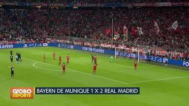 Liga dos campeões: Real Madrid vence o Bayern de Munique por 2 a 1 - Fora de casa, Real vira pra cima do Bayern de Munique no jogo de ida da semifinal.