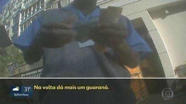 Flanelinhas trabalham de forma irregular e cobram preço muito acima de R$2 - Flagrantes feitos em Copacabana, Ipanema e Leblon mostram flanelinhas sem talão e sem uniforme cobrando até R$10.