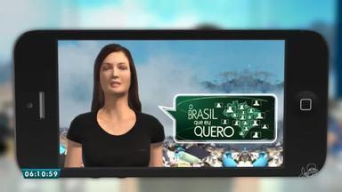 Que Brasil você quer para o futuro? Mande seu vídeo! - Saiba mais em g1.com.br/ce