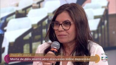Perda da filha fez Lucinaura criar projeto social - Bia cometeu suicídio aos 13 anos e inspirou Lucinaura a criar um instituto para ajudar famílias que passaram pela mesma situação e apoiar jovens em escolas