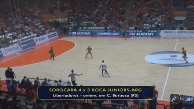 Sorocaba vence o Boca e pega o Joinville na semifinal da Libertadores do futsal - Time paulista abre 4 a 2, leva gol e sufoco no fim, mas assegura classificação.
