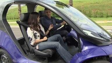 Startup cria modelo de carro elétrico totalmente brasileiro - Empresa quer conquistar mais mercado com um veículo urbano que faz até 100 km com uma carga de bateria.