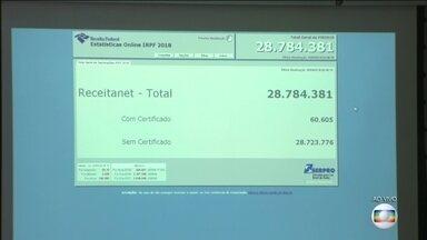 A poucas horas do fim do prazo, Receita recebeu 294 mil declarações do IR por hora - Expectativa da Receita Federal era receber 28,8 milhões de declarações de renda. Sistema funcionou sem problemas.