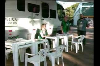 A unidade móvel da Defensoria Pública esteve na Fenasoja prestando serviços à população - A unidade veio de Porto Alegre para dar orientações na área do direito.
