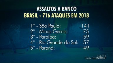 Paraná está entre os estados que mais registraram ataques a bancos - Em 2018, foram 716 ataques em todo o País