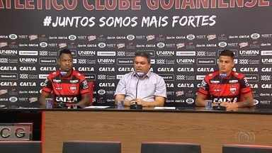 Atlético-GO apresenta mais dois jogadores para a Série B - Atacante André Luís e lateral Mascarenhas reforçam o Dragão.