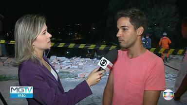 Bombeiros procuram por desaparecidos em desabamento na Região de Venda Nova - Casa desabou no bairro Mantiqueira. Bombeiros procuram por pessoas que estariam soterradas pelos escombros.
