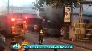 Parte da garagem de prédio pega fogo em Cariacica, ES - Os moradores já voltaram para casa.