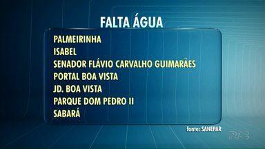 Confira onde vai faltar água nesta quinta-feira (03) em Ponta Grossa - O desabastecimento programado vai das 9 horas da manhã até as 17 horas.