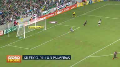 Palmeiras acaba com invencibilidade do Atlético-PR na Arena da Baixada - Verdão é o vice-líder do campeonato. Fluminense vira pra cima do Vitória no Barradão.