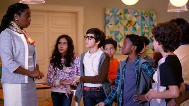 Fundindo os Neurônios - Para tentar conquistar o voto de Violeta, Isaac aprende sobre Neurociência com Luiza, Otto e Drica. Tesla queima a camisa preferida de Guto. Maya acha que encontrou seu pai e tenta sair da escola.