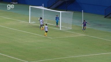 Luana Spindler dá assistência para Sissi, que apenas empurra para as redes - Sissi fez o primeiro gol dela com a camisa do 3B