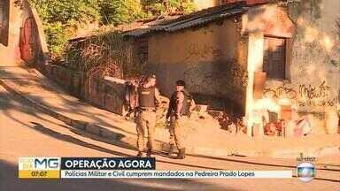 Policiais militares e civis fazem operação contra homicídios e tráfico de drogas na PPL - Cento e cinquenta policiais cumprem 19 mandados de prisão, busca e apreensão.