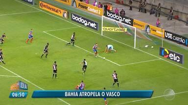 Atropelou: Bahia vence o Vasco por 3 x 0 na Copa do Brasil - Veja os destaques do jogo que aconteceu na quarta-feira (9).