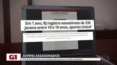 Unicef firma parceria com estado para prevenir assassinatos de jovens - A idéia é propor um plano estadual com políticas públcias integradas e garantir orçamento para programas de proteção de crianças ameaçadas de morte.
