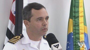 Capitania dos Portos e Dersa realizam reunião sobre acidente no Porto de Santos - Um navio que entrava no Porto bateu em três balsas da travessia entre Santos e Guarujá.
