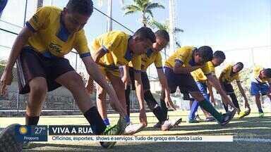 Projeto 'Viva a Rua' vai levar esportes, cultura e lazer ao São Benedito, em Santa Luzia - O projeto, que é uma iniciativa da Globo, tem o objetivo de levar as pessoas para se divertirem novamente nas ruas.