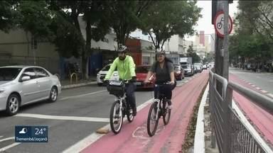 Incor revela benefícios de quem deixou de ir ao trabalho de trem para ir de bicicleta - Um estudo feito pelo Instituto do Coração comprovou mudanças no corpo e na saúde de uma jovem que topou trocar o trem pela bicicleta.