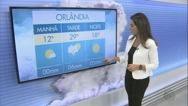 Veja a previsão do tempo para o fim de semana na região de Ribeirão Preto - Em Orlândia, termômetros marcam 12 graus.