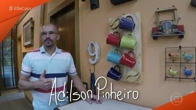 Designer Adilson Pinheiro ensina a fazer painel de canecas - Se liga nessa super dica do 'É de Casa'!
