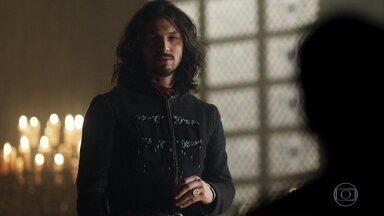Afonso decide que Rodolfo seja exilado - O Rei ordena que Orlando e Petrônio informem ao irmão
