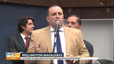 Comissão vai analisar denúncia de quebra de decoro parlamentar contra Wellington Magalhães - Vereador está suspenso das suas atividades profissionais desde o dia 25 de abril.