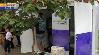 Lavanderia social leva higiene a moradores de rua em Porto Alegre - Assista ao vídeo.