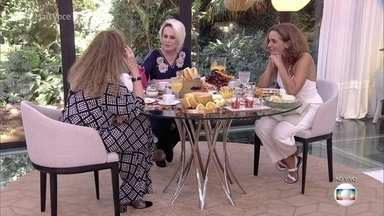 Ana Maria toma café da manhã com Arlete Salles e Maria de Médicis - Alerte interpreta Naná, a mãe de Beto Falcão, e fala sobre a história de sua personagem na novela 'Segundo Sol'