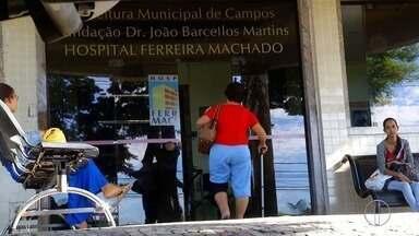 Hospital Ferreira Machado em Campos, RJ, passa por problemas estruturais - Assista a seguir.