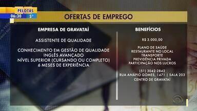 Empregos: empresa de Gravataí tem vaga de assistente de qualidade - Veja mais detalhes.