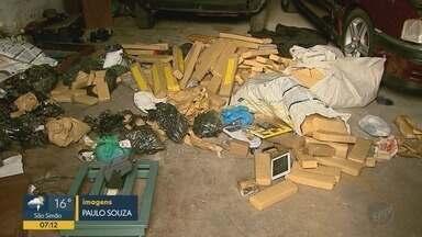 Casal é preso por suspeita de tráfico de drogas em Ribeirão Preto, SP - Polícia apreendeu com os suspeitos 200 quilos de maconha.