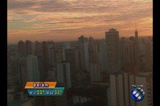 Confira a previsão do tempo em Belém e no interior do estado nesta sexta-feira, 18 - Previsão do tempo.