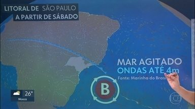 Prepare-se: frente fria vai trazer temporal, frio e ondas gigantes - Sábado será chuvoso, domingo gelado e no litoral, o mar vai ficar muito agitado