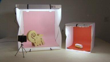 Mini estúdio fotográfico facilita a venda dos e-commerces - Empresários contam como funciona a empresa no VC no PEGN.