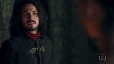 Afonso intima Rodolfo a deixar Montemor - O Rei descobre que seu irmão mentiu sobre doença
