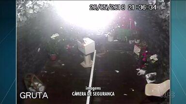Santuário de Santa Rita de Cássia é furtado no interior do Paraná - Em um vídeo é possível ver o flagrante do furto da caixa de ofertas.