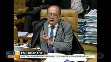 Ministro Gilmar Mendes concede habeas corpus a 19 presos da Lava Jato em menos de 1 mês - Desde o começo das operações no estado do Rio, foram concedidos pelo menos 34 habeas corpus pelo ministro Gilmar Mendes.