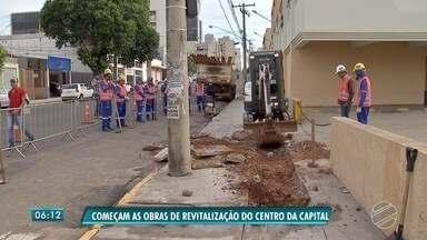 Obras de revitalização do Centro de Campo Grande começam - Trabalhos estão concentrados no cruzamento da avenida Fernando Correa da Costa com a rua 14 de Julho.
