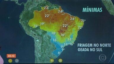 Previsão alerta para riscos de temporais no Pará - A meteorologia prevê chuva volumosa no Amazonas, no Amapá, em Roraima e no Rio de Janeiro. Confira como fica o tempo em todo o país nesta quarta-feira.
