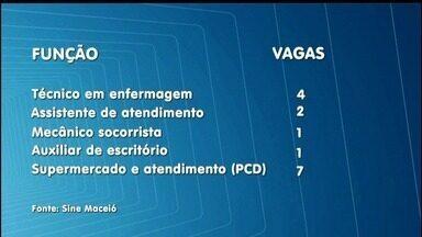 Sine oferta vagas de emprego em Maceió - Estão sendo ofertadas 17 vagas de trabalho.
