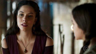 Brice conta para Agnes o segredo de sua juventude - A bruxa se sente mal