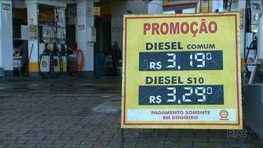 Preço do diesel diminuiu quase 30 centavos em Umuarama desde o fim da greve - O etanol e a gasolina, no entanto, não tiveram reduções significativas.