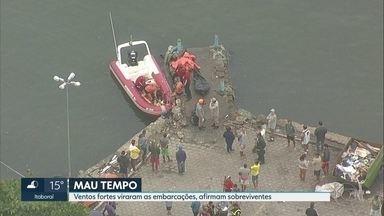 Naufrágio em Itaguaí deixa seis mortos - 6 pessoas ainda estão desaparecidas. Dois barcos afundaram na baía de Sepetiba. As buscas continuam. O mau tempo pode ter causado o acidente.