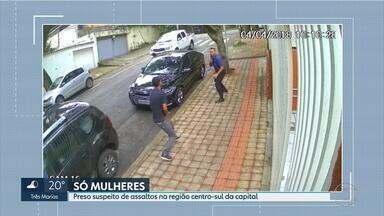 Polícia prende suspeito de série de roubos no bairro Sion, em BH - Segundo a polícia, ele escolhia sempre mulheres como vítimas.