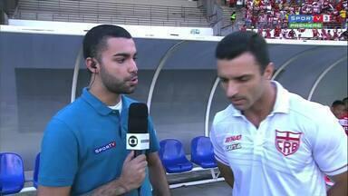 Júnior Rocha comenta a expectativa para o clássico contra o CSA - Treinador regatiano diz o que espera do jogo contra o arquirrival