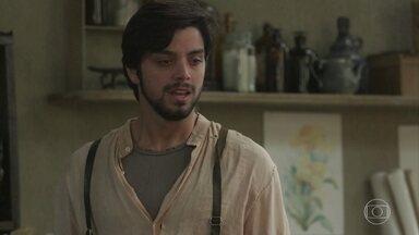 Camilo questiona Ernesto sobre o motivo de seu sofrimento - O italiano pede a ajuda de Mariko para ajudar o amigo