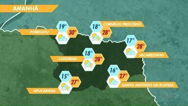 Domingo com temperatura de 30 graus em Porecatu - Em Londrina os termômetros vão variar entre 18 e 28 graus.